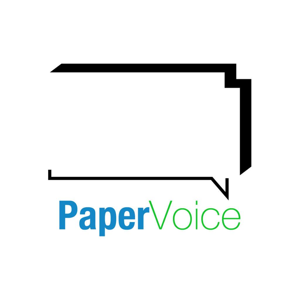 papervoice logo, paper voice logo, papervoice, paper voice,