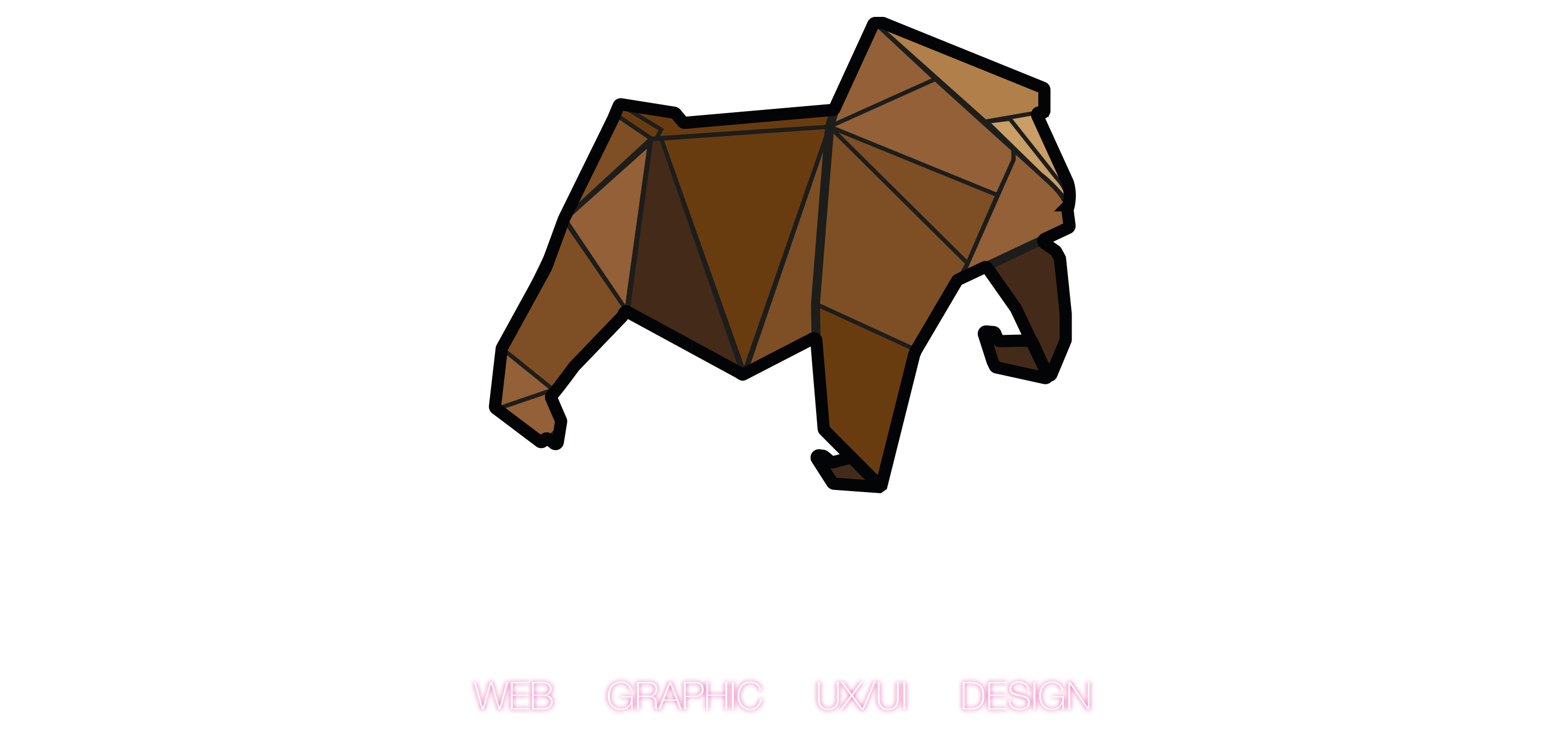 paper voice, oragami, web, graphic, logo, branding, design, ux, ui, newcastle upon tyne, gorilla, ident, logo design, gorillas, monkey