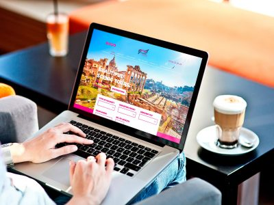 travel agents web design, thorne travel web design, web design paper voice,
