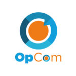 opcom, opcom logo, logo design, logo design newcastle, paper voice logo design