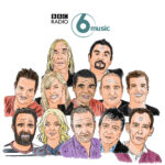 bbc 6 music, bbc 6 music illustrations, 6 music illustrations, huey morgan, illustration, illustration, steve paul myers, illustrator, chris hawkins, mark radcliffe, stuart maconnie, steve lamaq, iggy pop, tom ravencroft, shaun keaveny, craig charles, mary-anne hobbs, marc riley,
